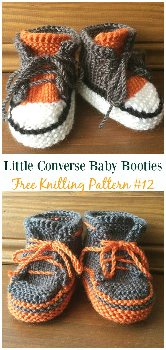 Knit Little Converse Baby Booties Free Pattern Baby Slippers
