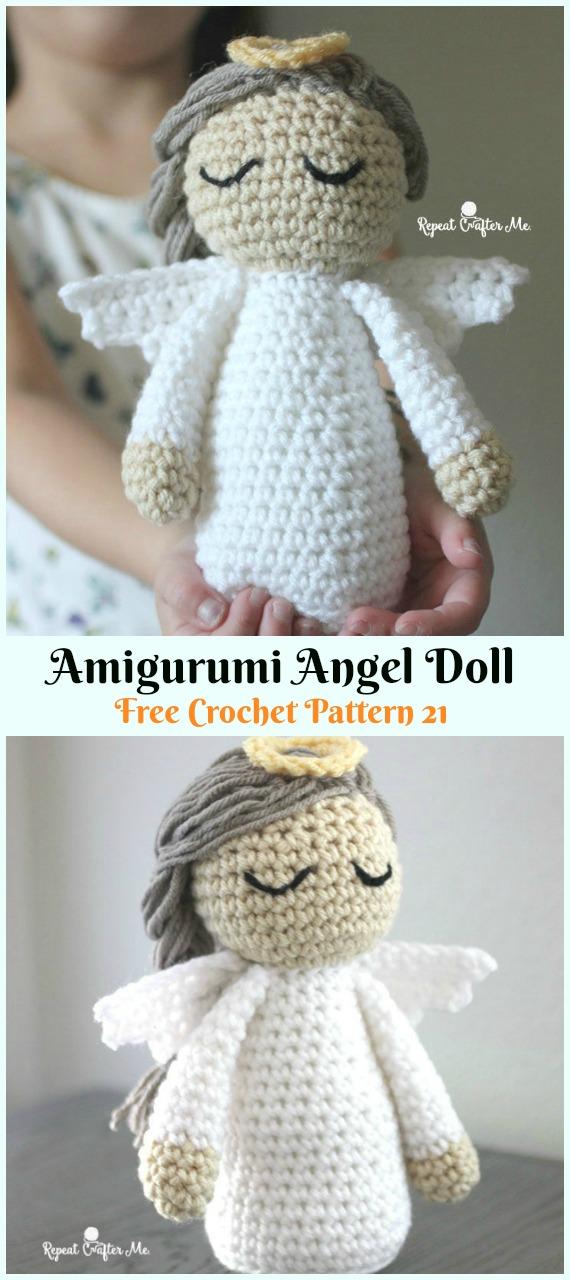 Amigurumi Angel DollCrochet Free Pattern - #Crochet; Christmas #Angel; Free Patterns