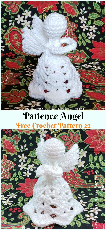 Patience AngelCrochet Free Pattern - #Crochet; Christmas #Angel; Free Patterns