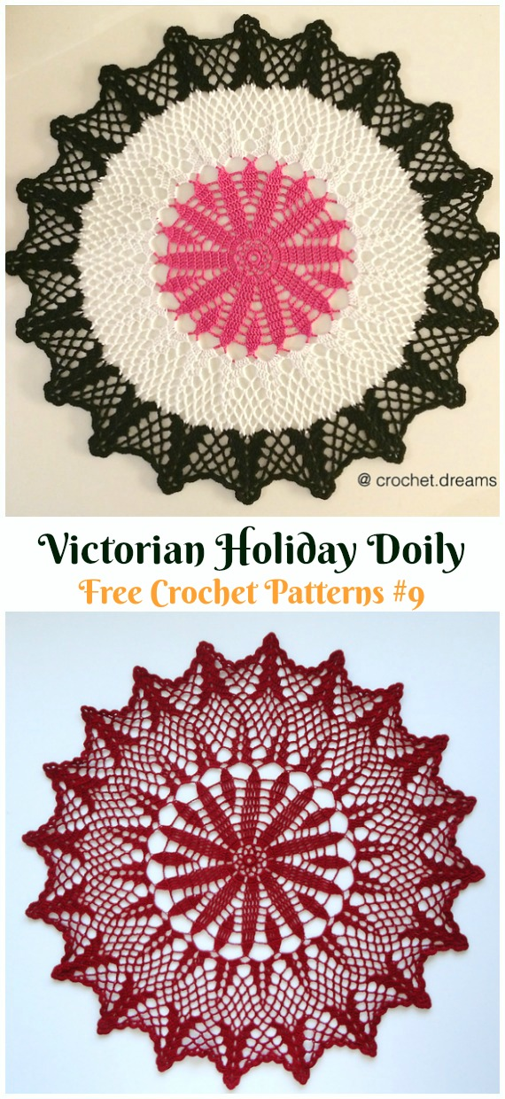 Christmas Morning Doily Free Crochet Pattern - #Christmas; #Doily; Crochet Free Patterns