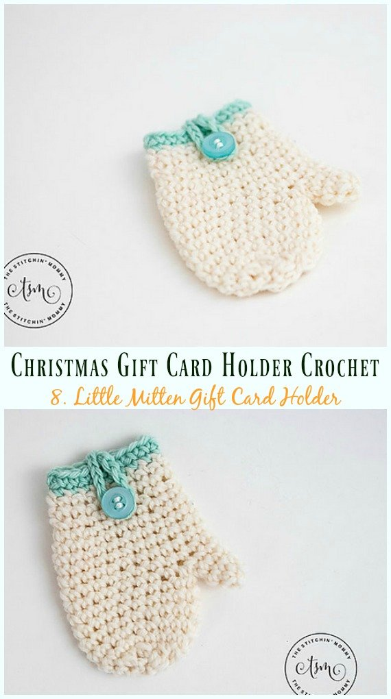 Little Mitten Gift Card Holder Free Crochet Pattern - #Christmas ...