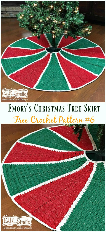 Emory's Christmas Tree SkirtFreeCrochet Pattern - #ChristmasTree; #Skirt;#Crochet; Free Patterns