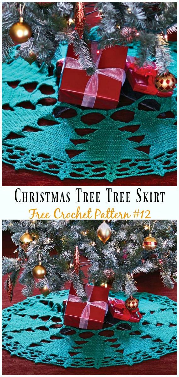 Christmas Tree Tree SkirtFreeCrochet Pattern - #ChristmasTree; #Skirt;#Crochet; Free Patterns