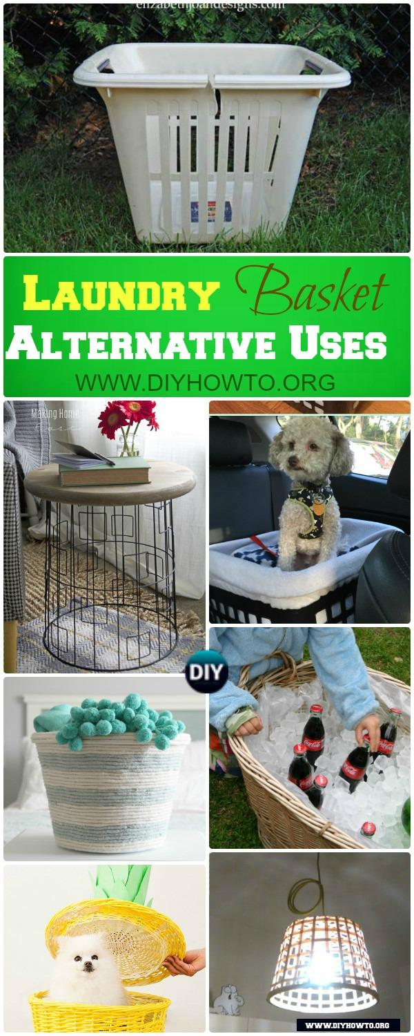 Laundry Basket Alternative Uses for Home Decorations