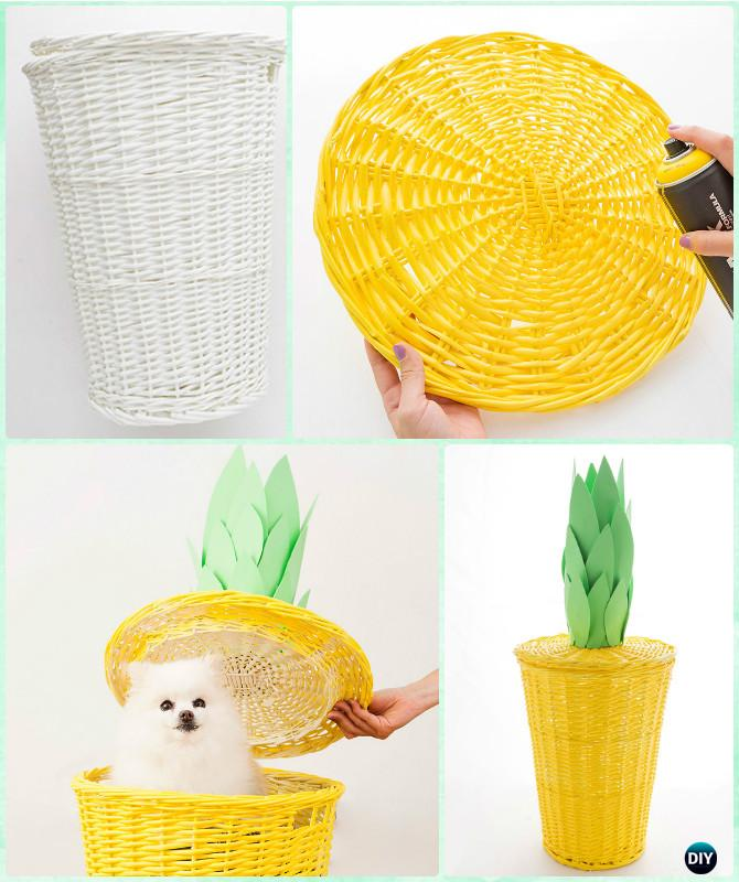 DIY Pineapple Laundry Basket Instructions-Creative Ways of Laundry Basket New Uses