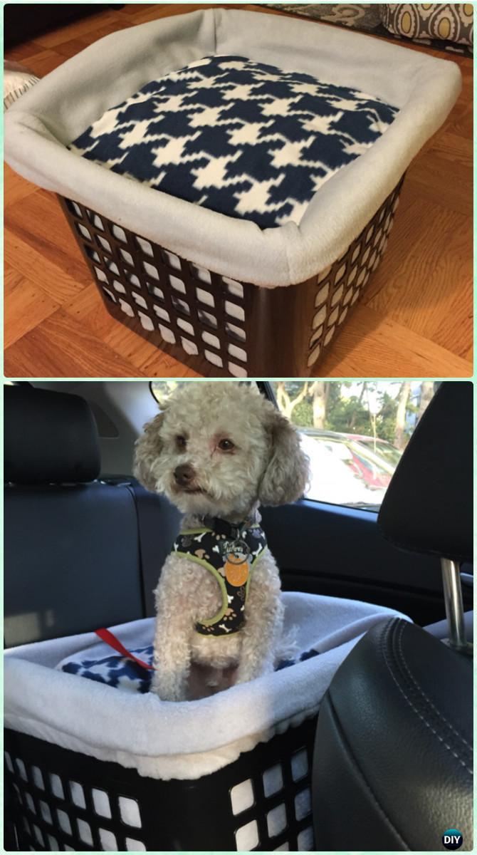 DIY Laundry Basket Dog Bed-Creative Ways of Laundry Basket New Uses