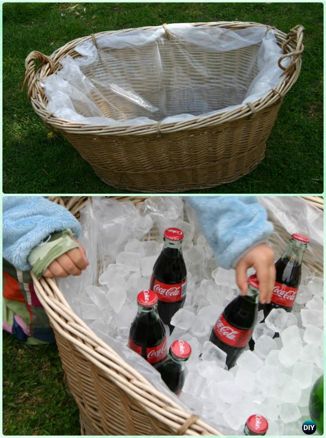 DIY Laundry Basket Party Serving Center Instructions-Creative Ways of Laundry Basket New Uses