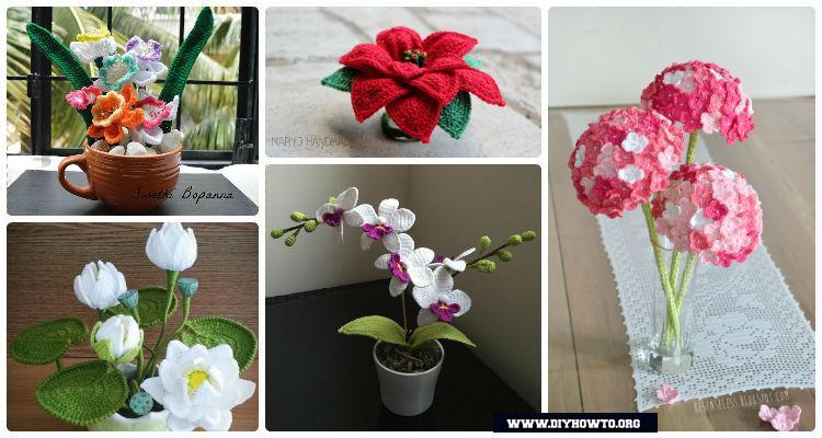 Crochet 3d Flower Bouquet Free Patterns Picture Instructions