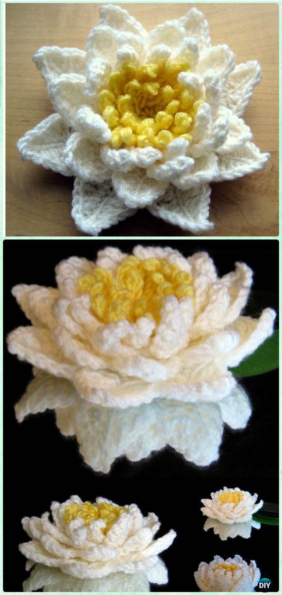 Crochet 3d Flower Motif Free Patterns Instructions