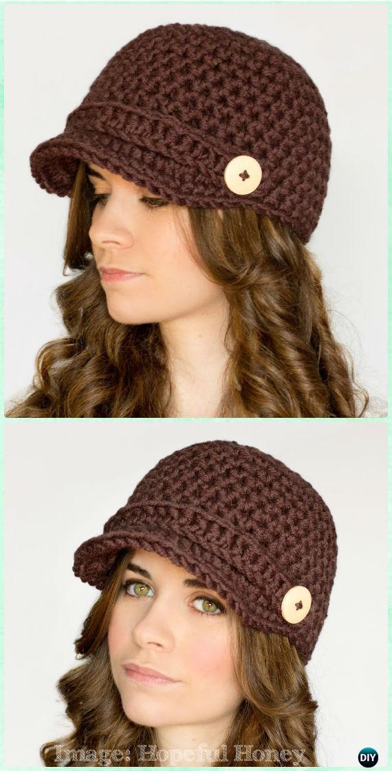 Crochet Women Sun Hat Free Patterns