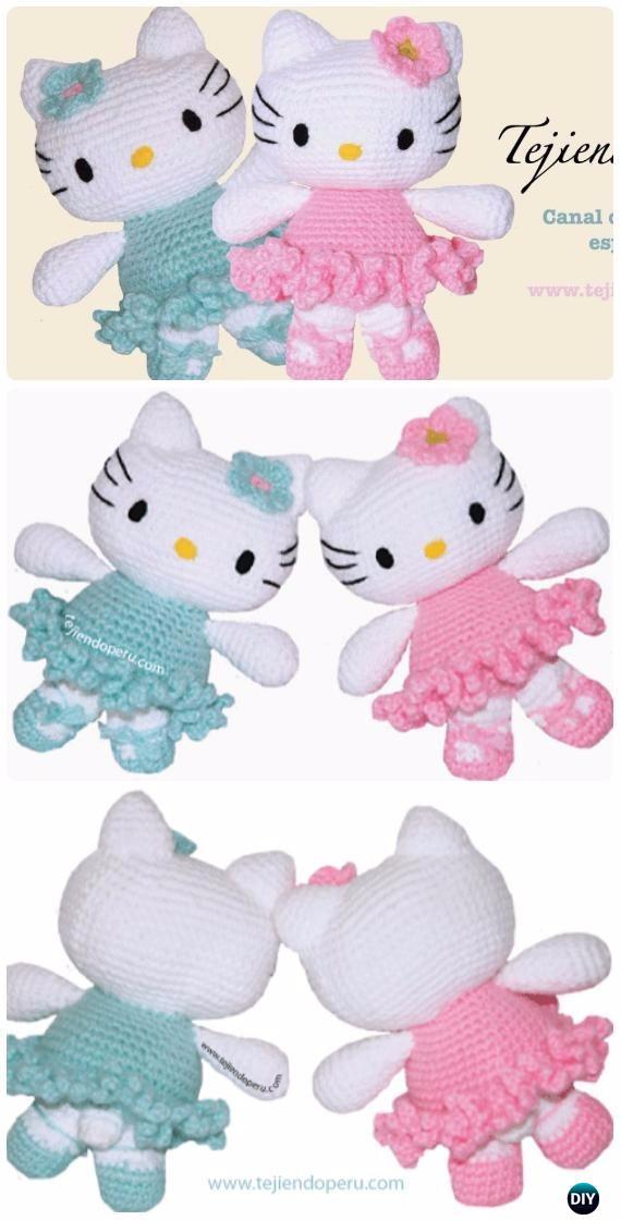 Crochet Amigurumi Hello Kitty Ballerina Free Pattern [Video ...