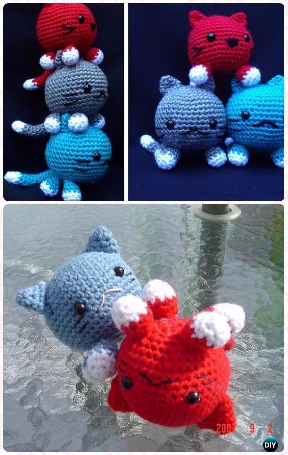 Crochet Amigurumi Roly Poly Cats Free Pattern - Crochet Amigurumi Cat Free Patterns