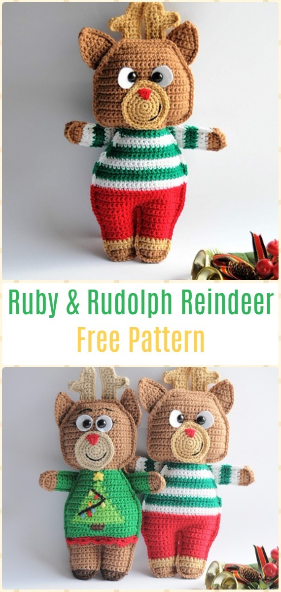 Crochet Amigurumi Deer Toy Softies Free Crochet Patterns Knitella