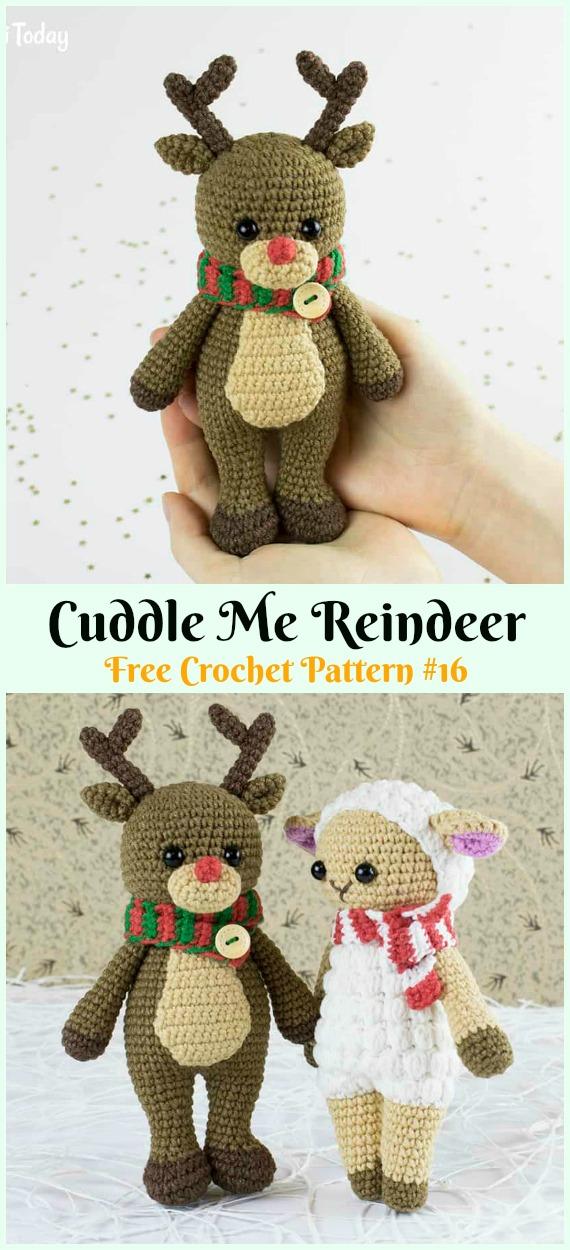 Cuddle Me Reindeer crochet pattern - Amigurumi Today | 1250x570