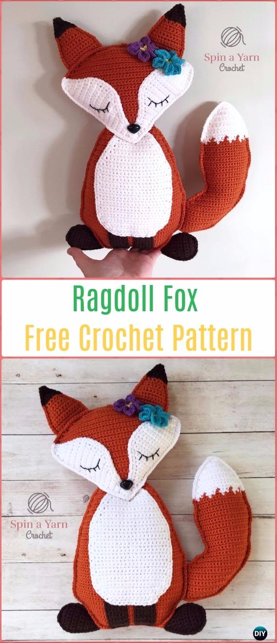 Amigurumi Crochet Ragdoll Fox Free Pattern - Crochet Amigurumi Fox Free Patterns