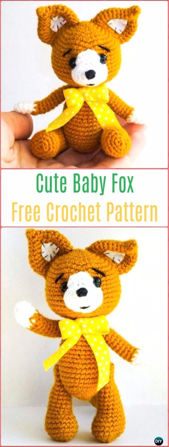 Amigurumi Crochet Baby Fox Free Pattern - Crochet Amigurumi Fox Free Patterns