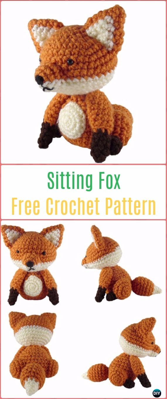 Amigurumi Crochet Sitting Fox Free Pattern - Crochet Amigurumi Fox Free Patterns