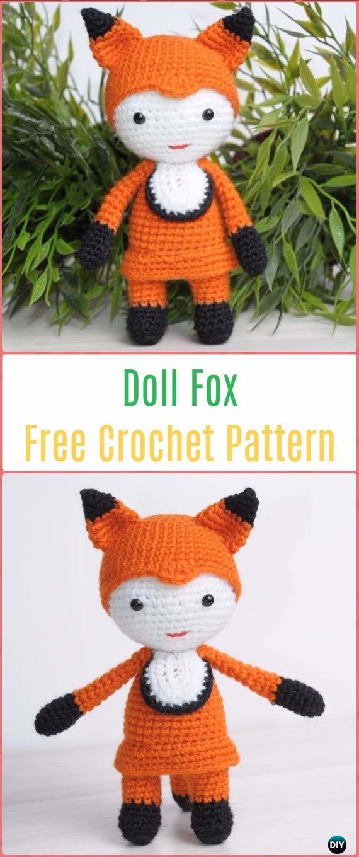Free Amigurumi Patterns for a Rabbit, Bear, Fox, Wolf & Monkey ... | 1360x570