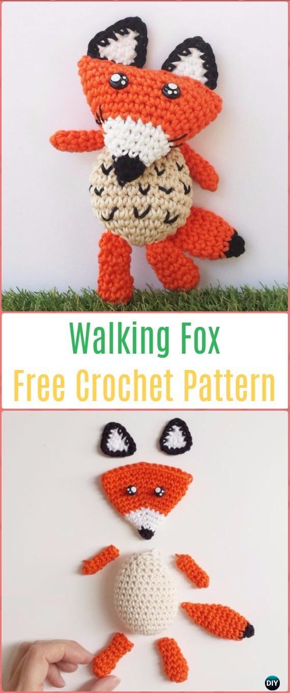 Crochet Amigurumi Walking Fox Free Pattern - Crochet Amigurumi Fox Free Patterns