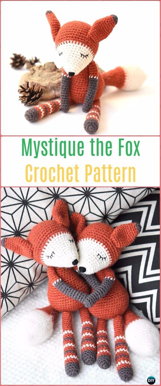 Crochet Amigurumi Mystique the Fox Paid Pattern - Crochet Amigurumi Fox Patterns