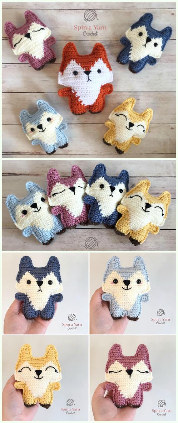 Pocket Fox Amigurumi Crochet Free Pattern -Crochet #Amigurumi; #Fox; Toy Softies Free Patterns