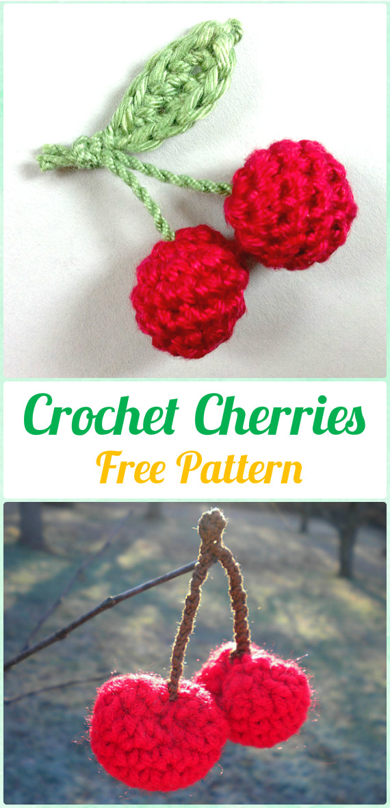 Crochet Cherry Free Pattern Crochet Amigurumi Fruits Free Patterns