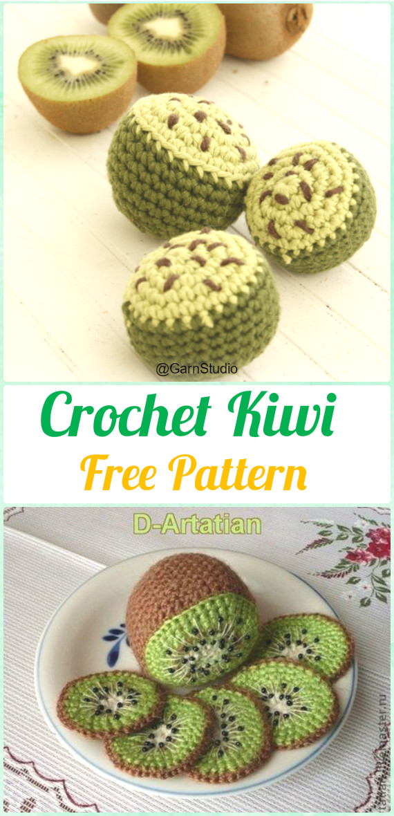 Crochet Amigurumi Kiwi Free Pattern - Crochet Amigurumi Fruits Free Patterns