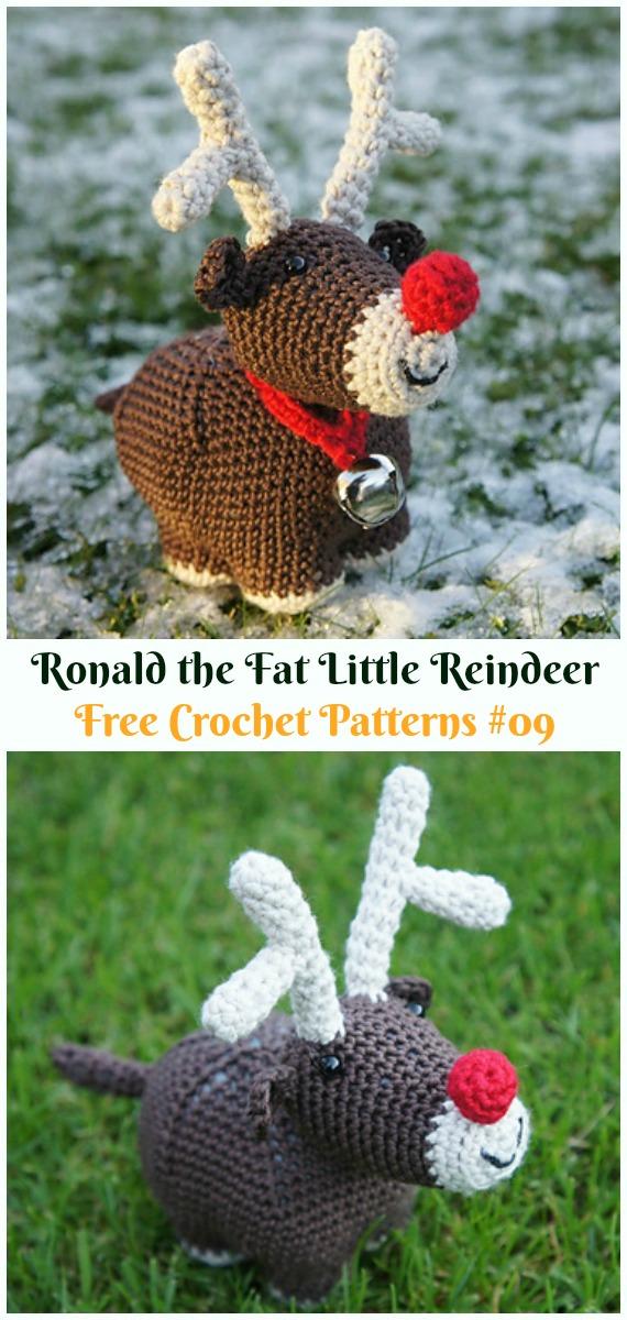 Crochet Amigurumi Deer Toy Softies Free Patterns