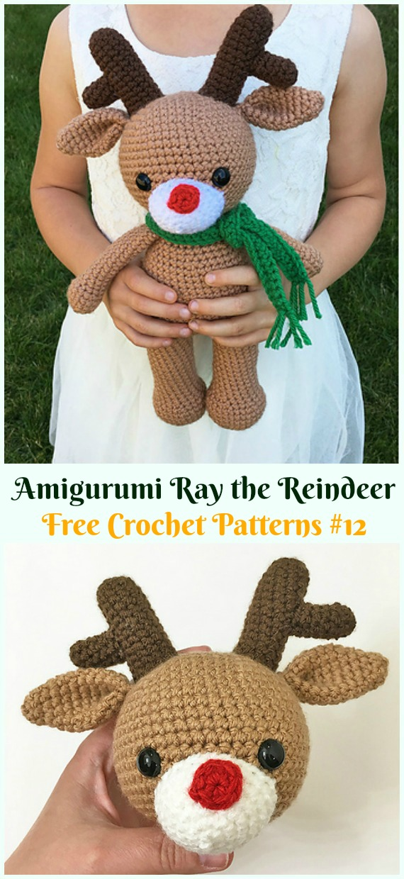 Crochet Amigurumi Deer Toy Softies Free Patterns