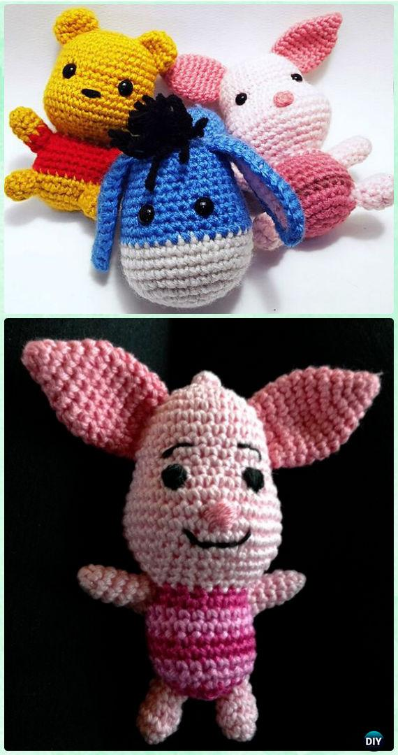 Crochet Amigurumi Winnie The Pooh Rabbit Free Pattern [Video] - Crochet Amigurumi Winnie The Pooh Free Patterns