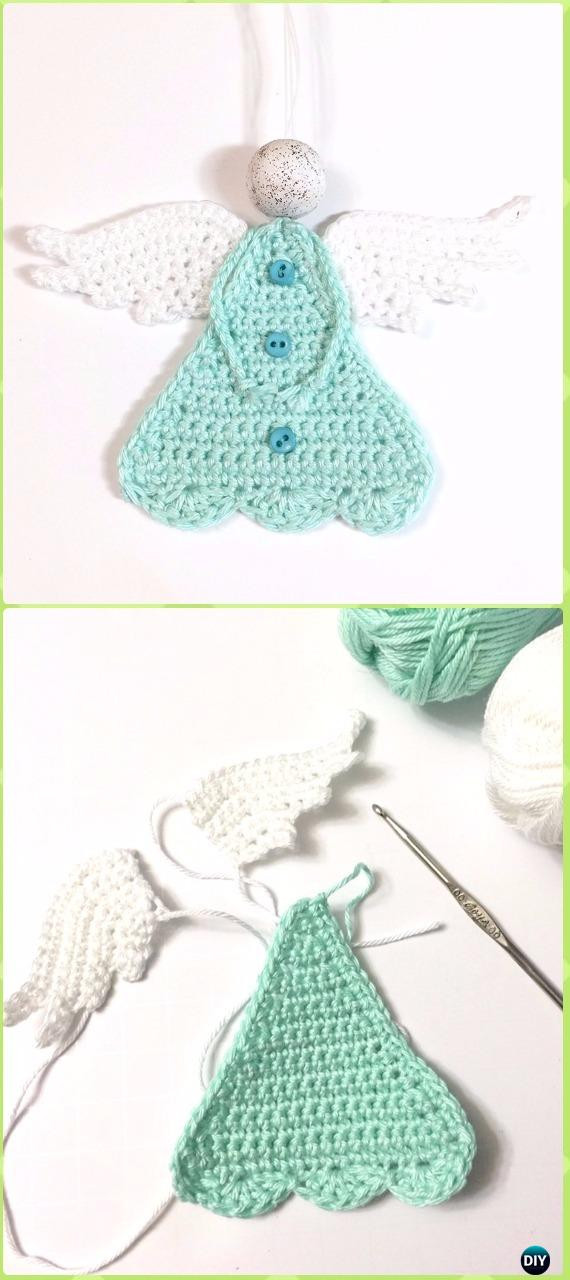 Crochet Beautiful Crochet Triangle Angel Free Pattern - Crochet Angel Free Patterns