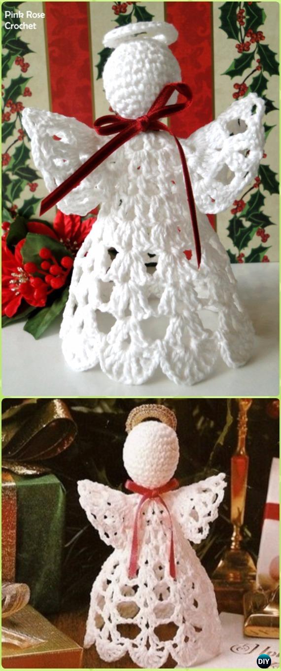 Crochet Shelf Christmas Angel Free Pattern - Crochet Angel Free Patterns
