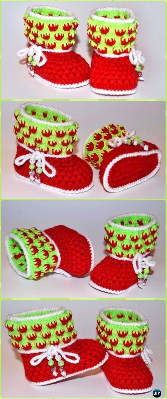 Crochet Puffy Strawberry Baby Booties Free Pattern Video -Crochet Ankle High Baby Booties Free Patterns