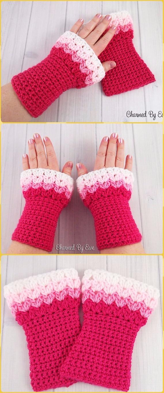 Crochet Fingerless Gloves Wrist Warmer Free Patterns