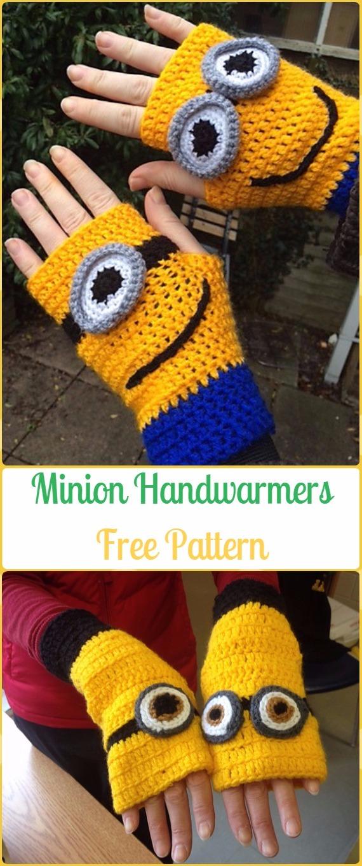 Crochet Minion HandwarmersFree Pattern - Crochet Arm Warmer Free Patterns
