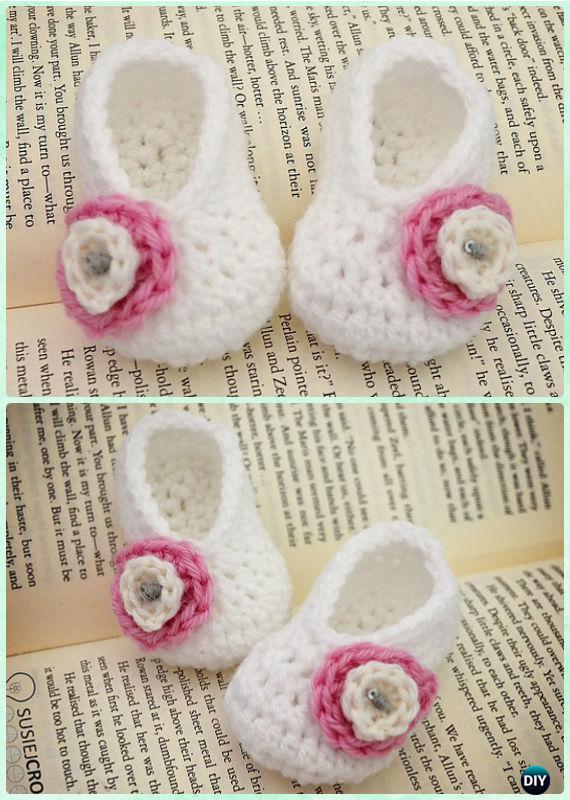 Crochet Basic Baby Booties Free Pattern - Crochet Baby Booties Slippers Free Pattern