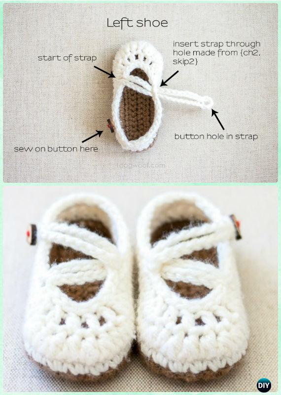 Crochet Double Strapped Mary Janes Free Pattern Crochet Baby