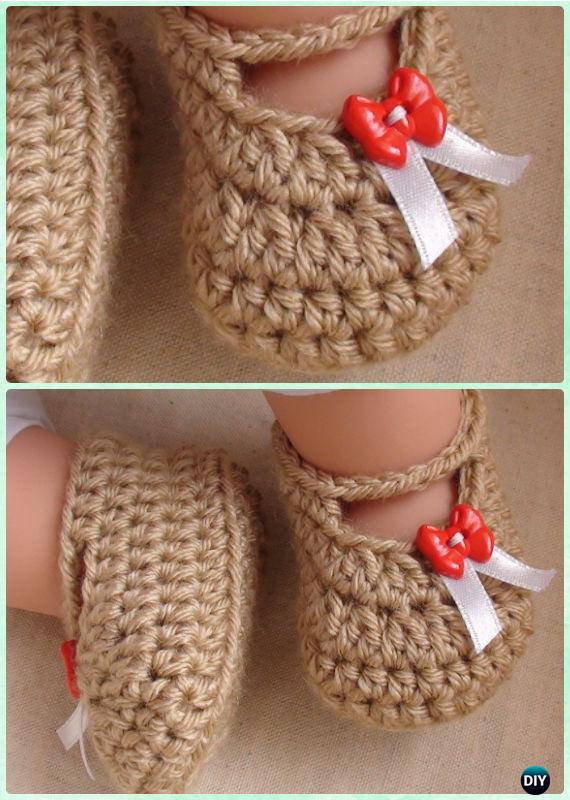 Crochet Posh Baby Booties Free Pattern Video - Crochet Baby Booties Slippers  Free Pattern d8b1b7bca