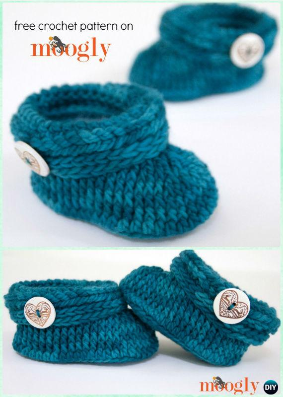Crochet Ups And Downs Baby Toddler Booties Free Pattern Crochet