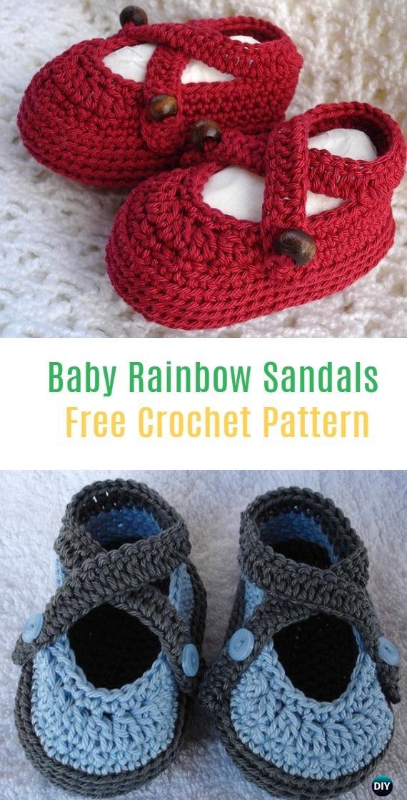 Crochet baby booties slippers free crochet patterns knitella crochet baby rainbow sandals free pattern crochet baby booties slippers free patterns dt1010fo