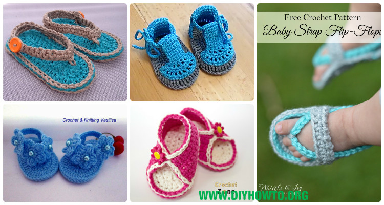 4c311f4f1c8d 20 Crochet Baby Flip Flop Sandals  FREE Patterns