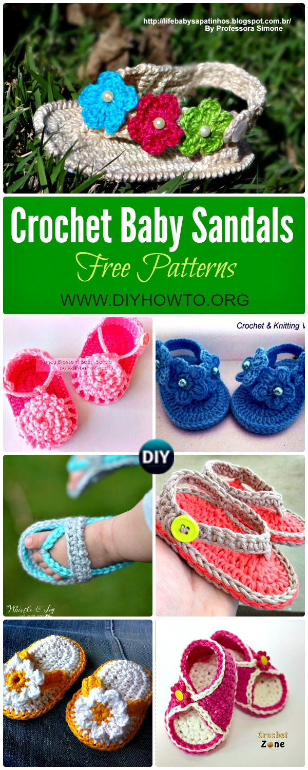20 crochet baby flip flop sandals free patterns these crochet baby sandals flip flops flower sandals and striped sandals are perfect bankloansurffo Gallery