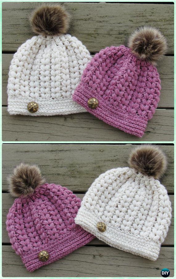 138f7417051 DIY Crochet Beanie Hat Free Patterns Baby Winter Hat