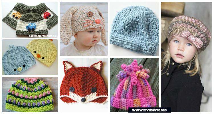 DIY Crochet Beanie Hat Free Patterns Baby Winter Hat 4f1bb4ea976