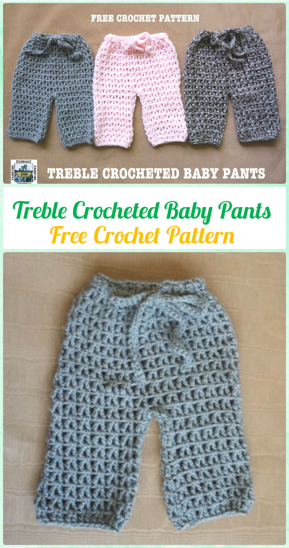 Crochet Treble Crocheted Baby Pants Free Pattern - Crochet Baby Pants Free Patterns