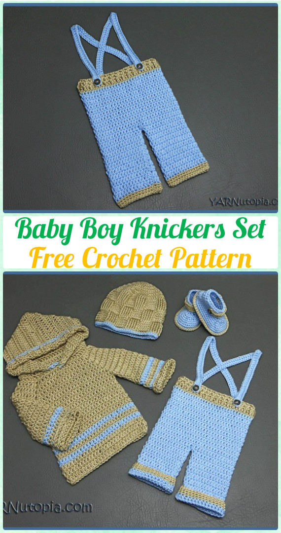 Crochet Baby Knickers with Suspenders Free Pattern [Video] - Crochet Baby Pants Free Patterns
