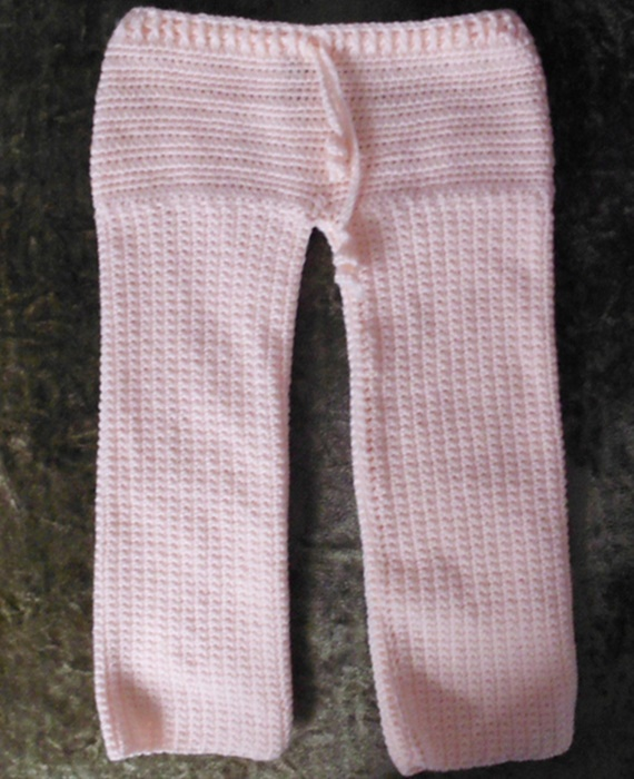 Crochet All in one - Drawstring Pants Free Pattern - Crochet Baby Pants Free Patterns