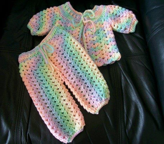 Crochet Abbey Sweater & Pants Free Pattern - Crochet Baby Pants Free Patterns