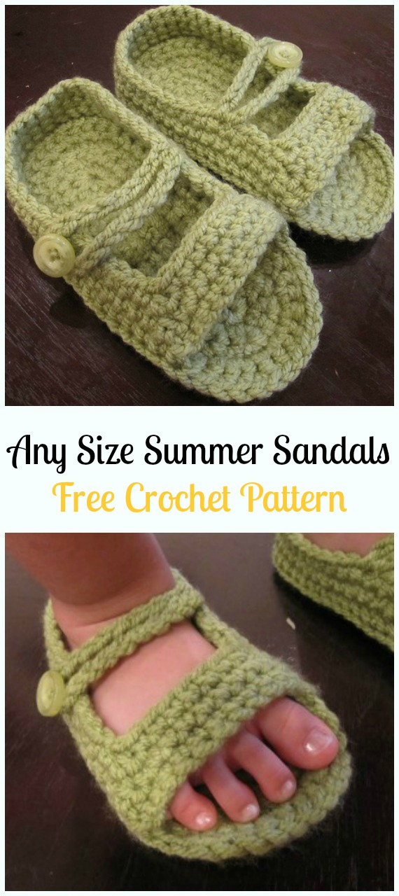 Crochet Any Size Summer Sandals Free Pattern Crochet Baby Sandals
