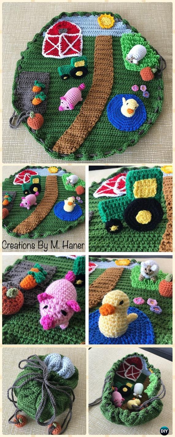 Crochet Down on the Farm Playmat Free Pattern - Crochet Baby Shower Gift Ideas Free Patterns